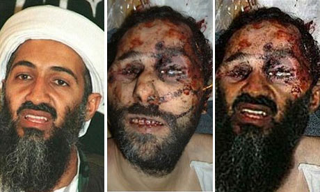 An Image Purporting To Show Osama Bin Laden S Bloody Corpse  Right  Is