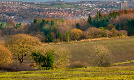 Leo blog: Agricultural land in South Tyneside looking towards the city of Gateshead.