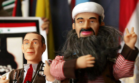 osama bin laden and george bush funny. George+ush+and+osama+in+