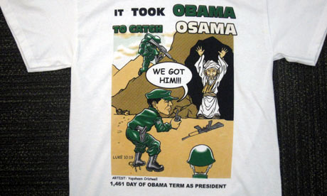 obama bin laden shirt. #39;It took Obama to catch Osama#39;