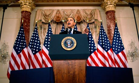 Barack Obama Speech On Mideast And North Africa Policy, Washington, DC, America - 19 May 2011