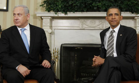 Barack Obama and Binyamin Netanyahu