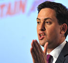 Labour leader Ed Miliband said the living standards of middle-class voters had been squeezed