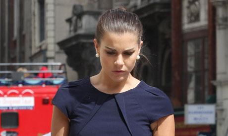 Imogen Thomas Leaving Court