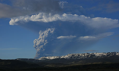 Grimsvotn volcano in Iceland