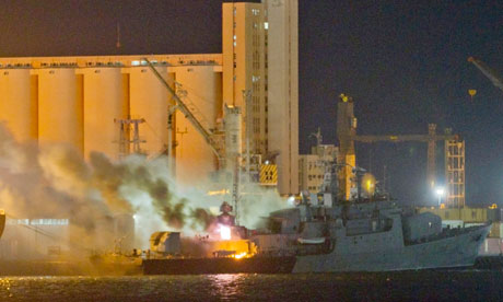 the one disabled Libyan frigate that was bombed, al-Ghardabia