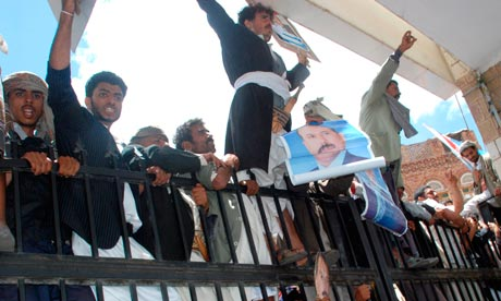 Pro-government protests in Yemen