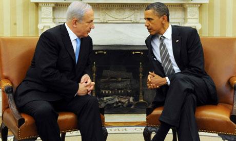 Binyamin Netanyahu meeting with Barack Obama