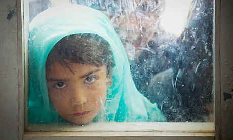 An Afghan girl in a classroom in Kabul