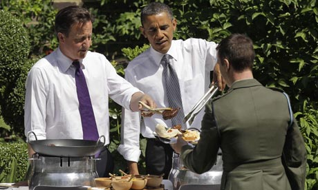 David Cameron and Barack Obama at 10 Downing Street barbecue