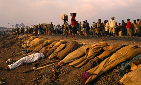 Refugees from Rwanda in Goma, DRC, after the genocide in 1994