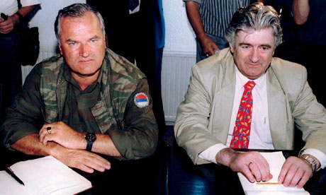 Ratko Mladic, pictured with Bosnian Serb leader Radovan Karadzic in 1994, has been arrested