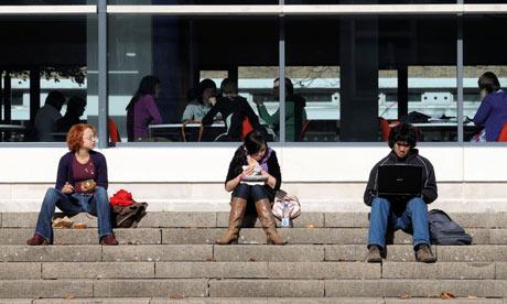 Students at a UK university