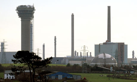The Sellafield nuclear site near where five men were arrested under the Terrorism Act