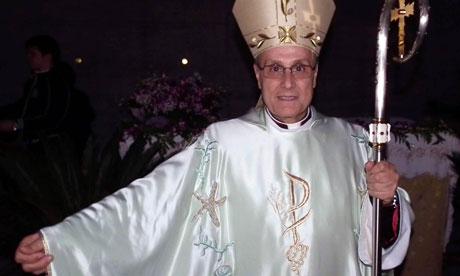 Bishop Domenico Mogavero wears the robes designed by Giorgio Armani