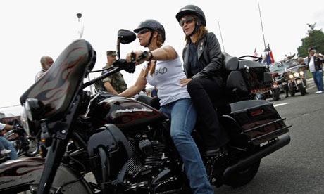 Sarah Palin on motorcycle