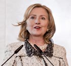 Hillary Clinton in Rome on 5 May 2011.