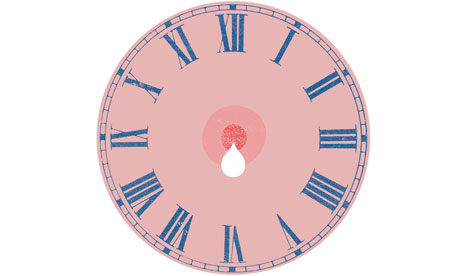 Breastfeeding clock illustration
