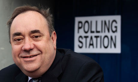 Alex Salmond at a polling station