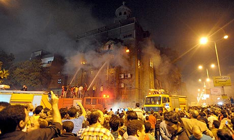 Coptic Church Burned Church Burned in Cairo