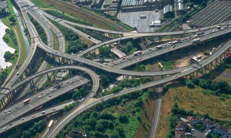 Aerail view of Spaghetti Junction, Birmingham