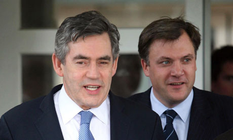 Gordon Brown and Ed Balls visit Preston Manor school