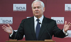 Robert Gates, US defence secretary, tells an audience in Brussels Nato risks military irrelevance