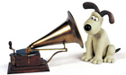 HMV logo featuring Gromit as 'His Master's Voice'