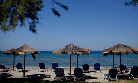 A Greek beach