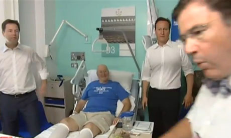 Surgeon David Nunn reprimands David Cameron and Nick Clegg.