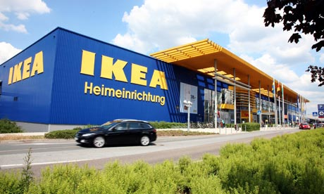 An Ikea store in Dresden, Germany. An explosion there left at least one person with minor injuries