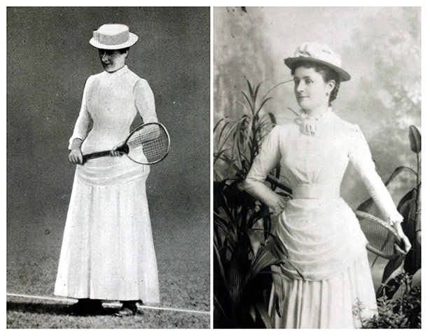 Tennis Fashion: Maud Watson defeated her sister Lilian in the championship final in 1884