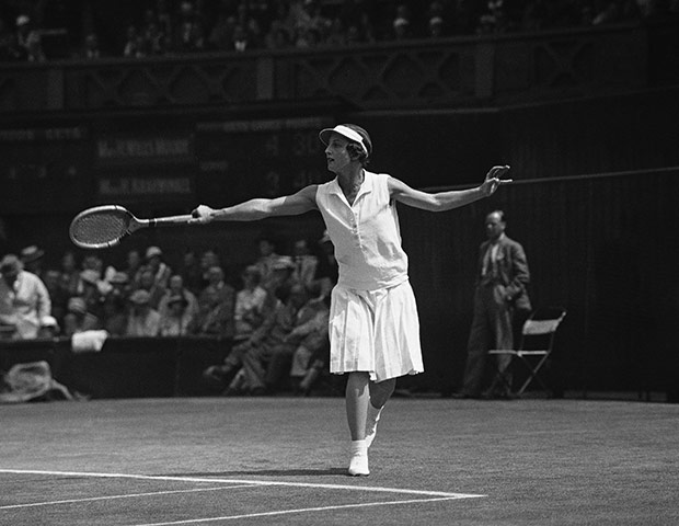Tennis Fashion: Californian tennis player Helen Wills Moody