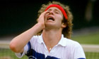 John McEnroe playing at Wimbledon 1981