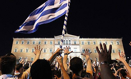 Greece debt crisis: protests