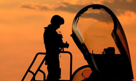 RAF Typhoon pilot prepares for mission over Libya
