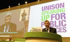 Dave Prentis, Unison leader, in Manchester