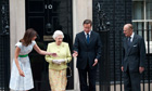Queen and Prince Philip at No 10 for lunch
