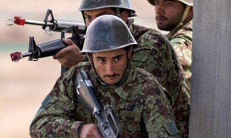 Afghan soldiers training