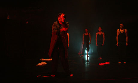 Members of the cast of the Freedom Theatre