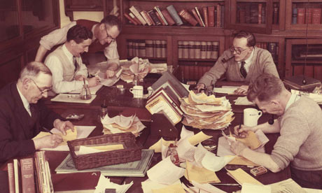 Manchester Guardian journalists in 1960