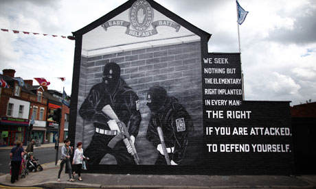 The irish political mural phenomena the plough and the stars for Murals belfast