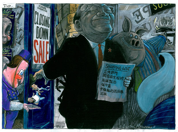 27.06.11: Martin Rowson on David Cameron's meeting with Wen Jiabao