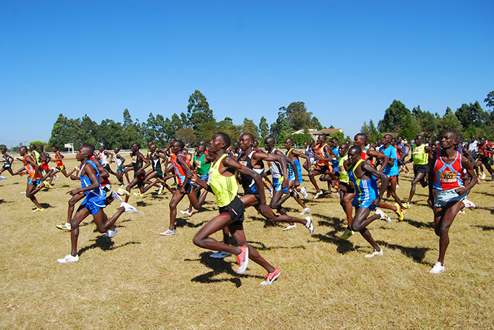 Running with Kenyans: The start of the local district cross country championships