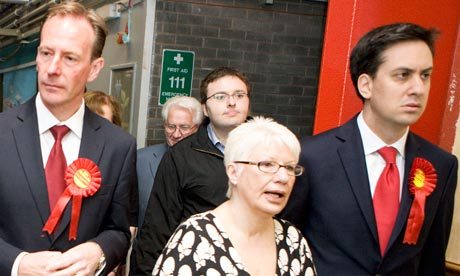 Ed Miliband and Iain McKenzie campaign in Inverclyde, where Labour faces a major threat from the SNP