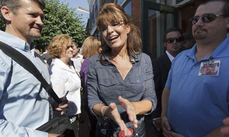 Sarah Palin arrives for premiere of  The Undefeated