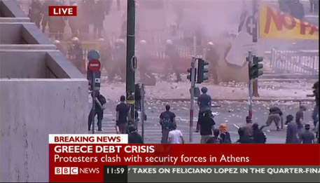 Greece teargas