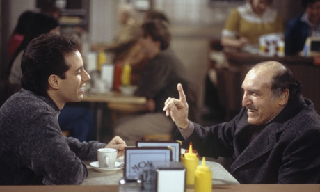 Jerry Seinfeld and 'Uncle Leo' in a 1998 episode of Seinfeld