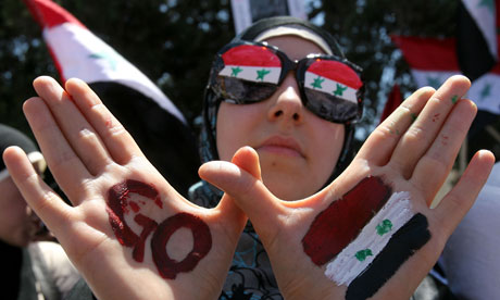 Syrian protester in Amman May 2011