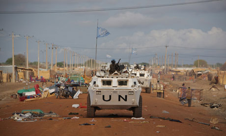 UN patrols in Abyei Sudan, May 2011